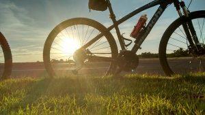 Bike Landscape Nature Summer Holidays Sol Sunset