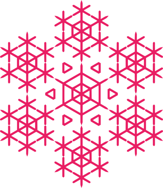 Red holiday snow flake.